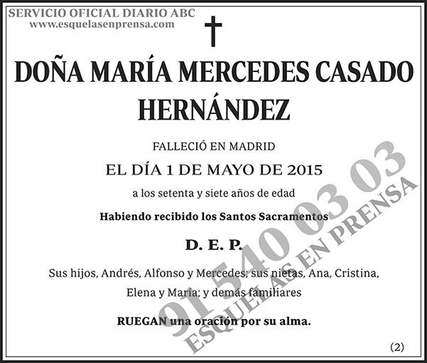 María Mercedes Casado Hernández